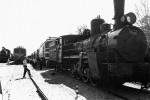 Паровозы и электровозы — экспонаты Музея железнодорожной техники. 1 августа 1991 г.