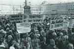 Митинг на Дворцовой площади в поддержку названия Ленинград. 1991 г.